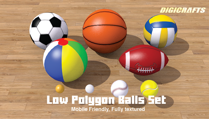 Low Polygon Ball Set