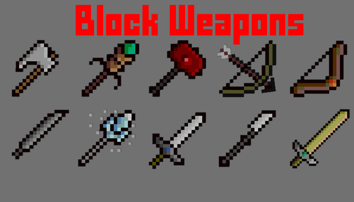 Block weapons