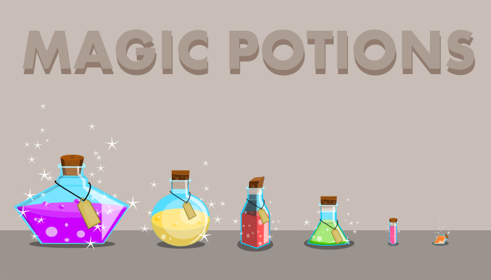 Magic Potions Bottles