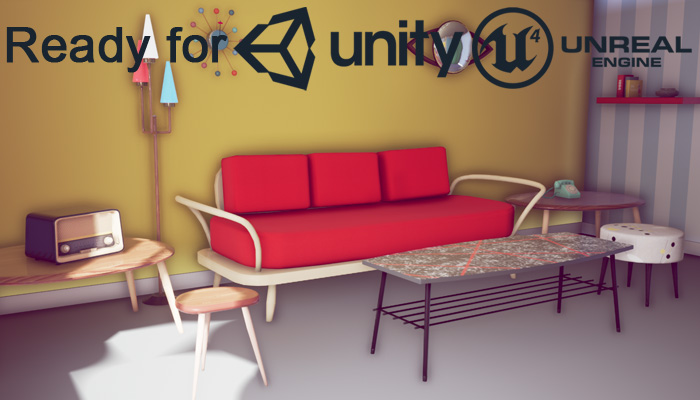 50s Vintage Furniture Pack