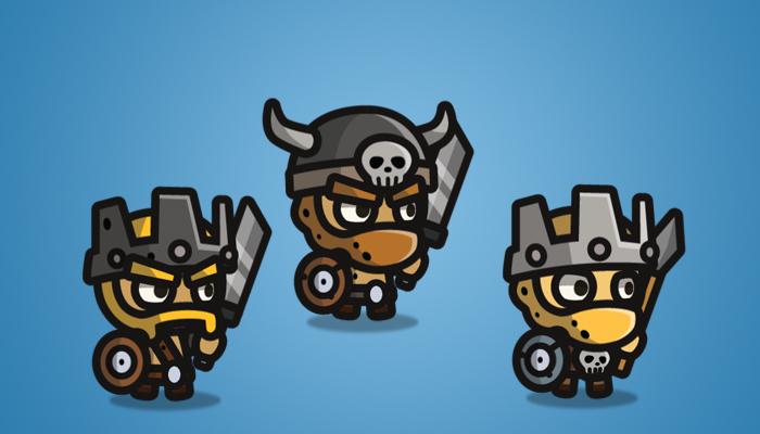 Tiny Style Character Barbarian