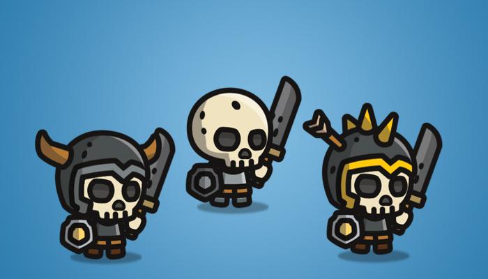 Tiny Style Character Skull