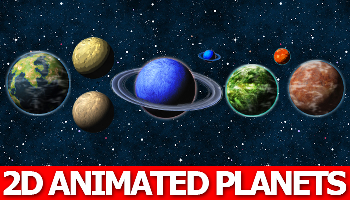 2D Animated Planets