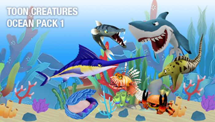 Toon Creatures – Ocean Pack 1