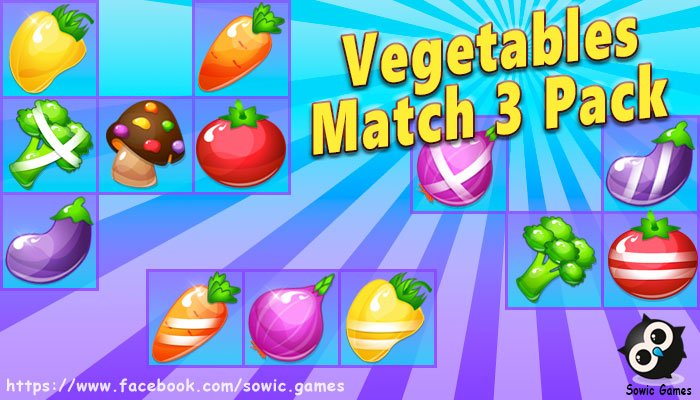 Vegetable Match 3 Pack