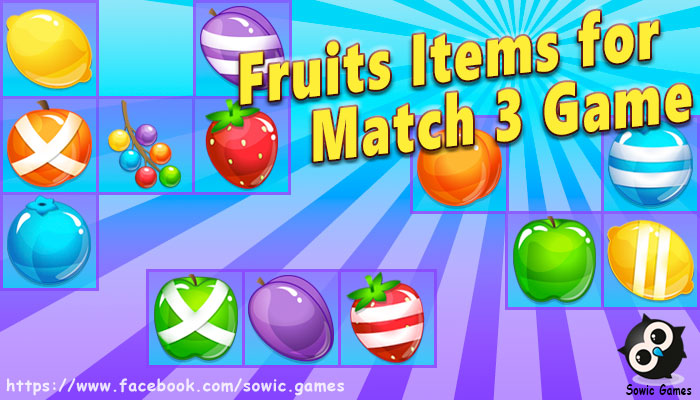Fruit Match 3 Pack