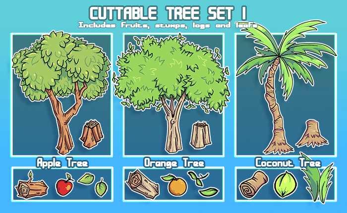 Cuttable Tree Set v1