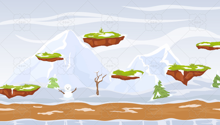 Winter jumping game background