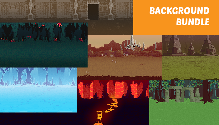 Pixel Art Background Bundle
