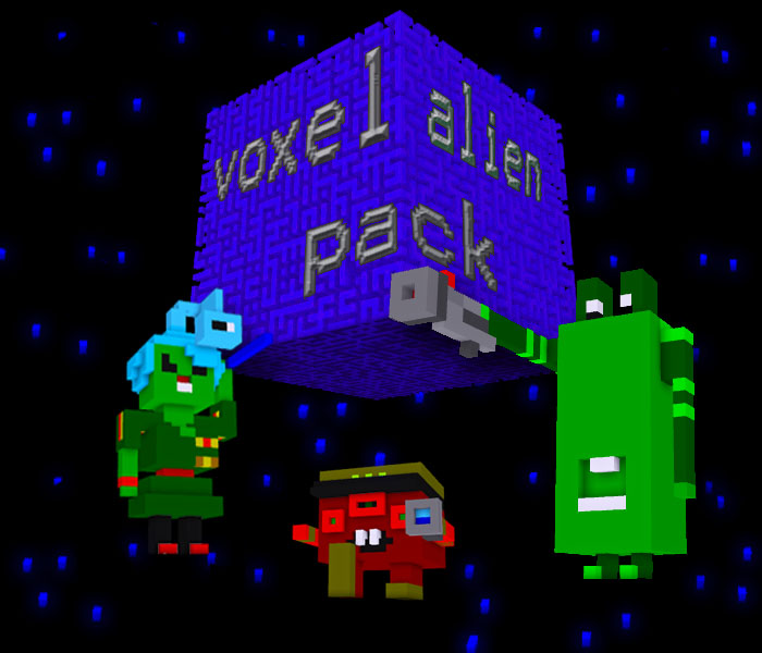 Voxel Alien Characters pack