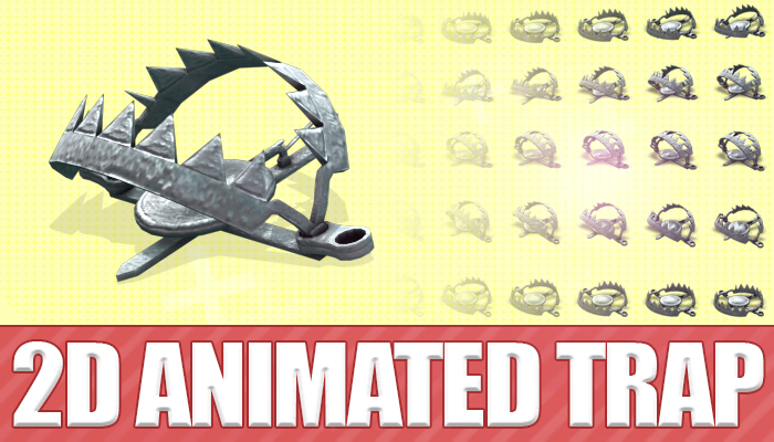 2D animated trap
