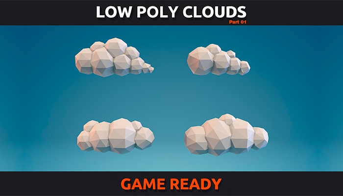 Low Poly Clouds Pack 1