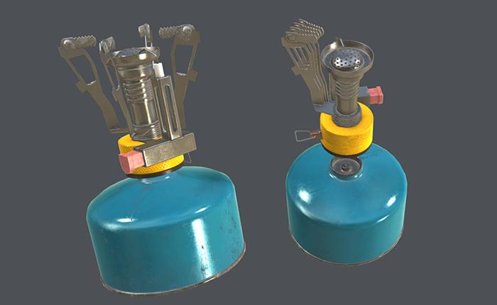 Realistic Portable Gas Stove