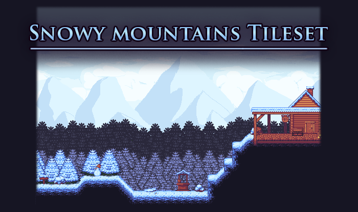 Snowy Mountains – Platformer Tileset