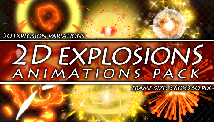 2D explosions animations pack