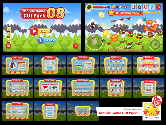 Mobile Game GUI Pack 08
