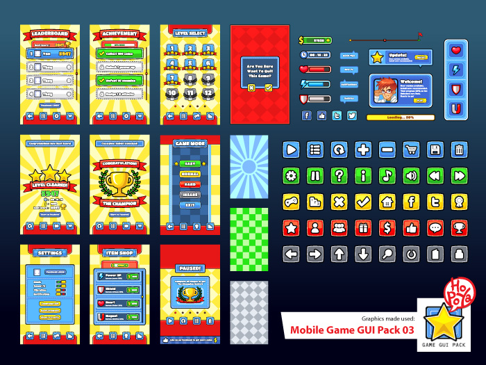 Mobile Game GUI Pack 03