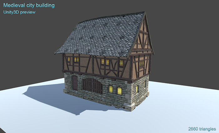Medieval city building 2