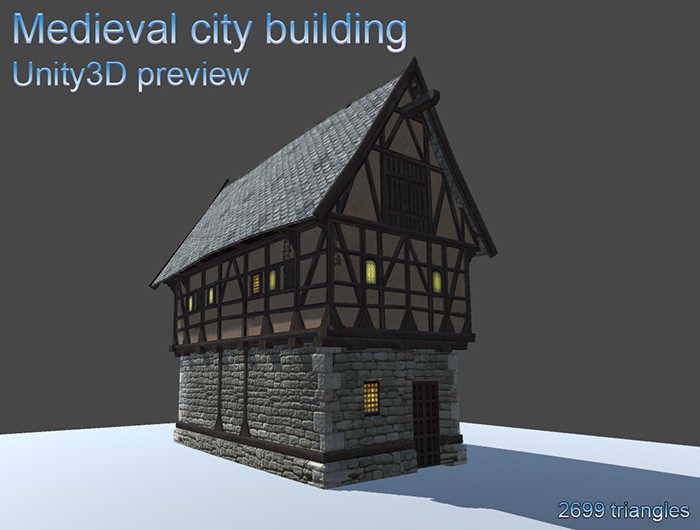 Medieval city building 1