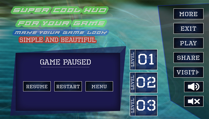 Cool HD Games HUD