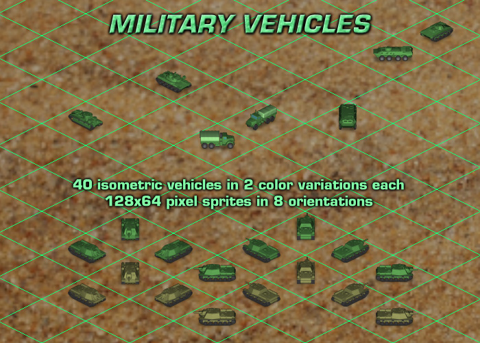 Isometric Military Vehicles