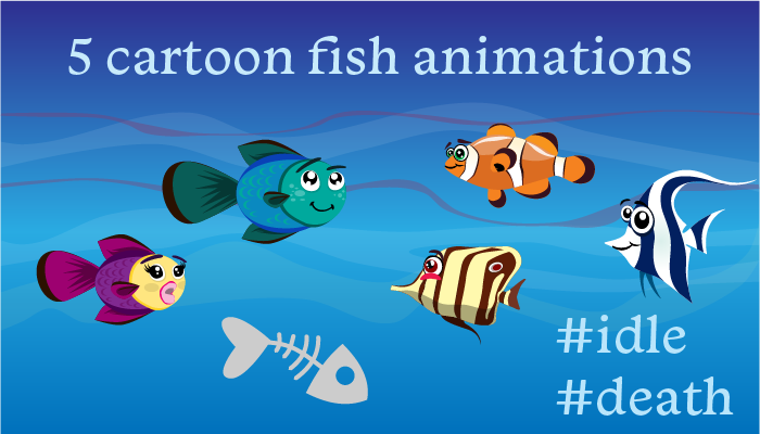 5 Cartoon Fish Animation
