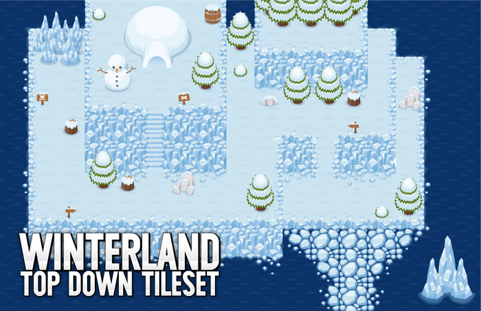 Winterland – Top Down Tileset