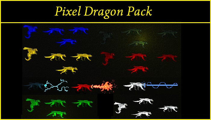 2D Animated Pixel Dragon Pack
