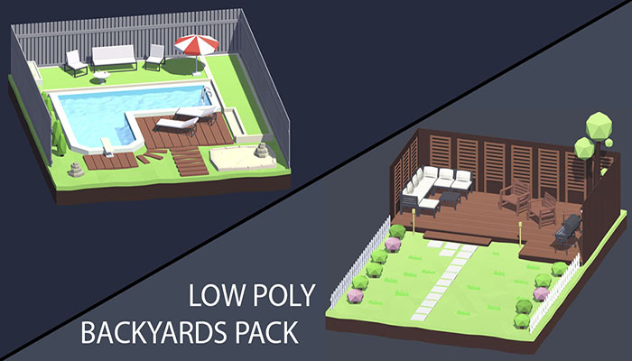 Low Poly Backyards Pack