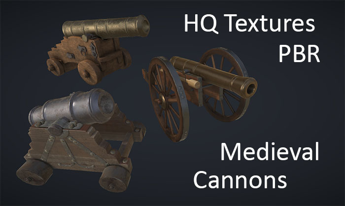 HQ Medieval Cannons Pack