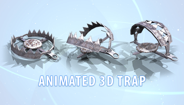 Animated 3D Trap