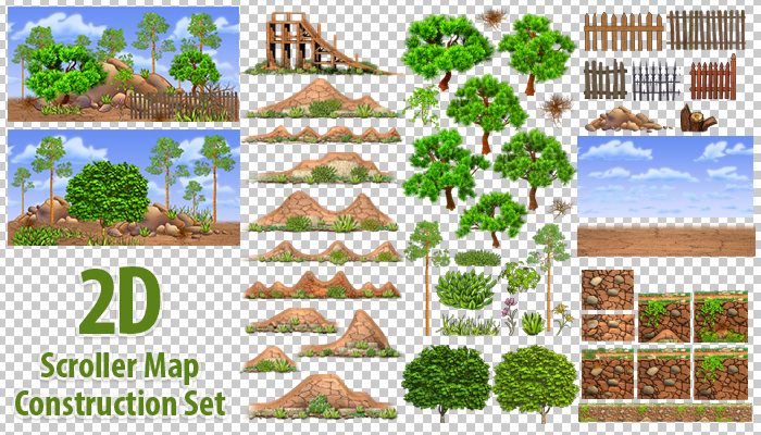 2D Scroller Map Construction Set