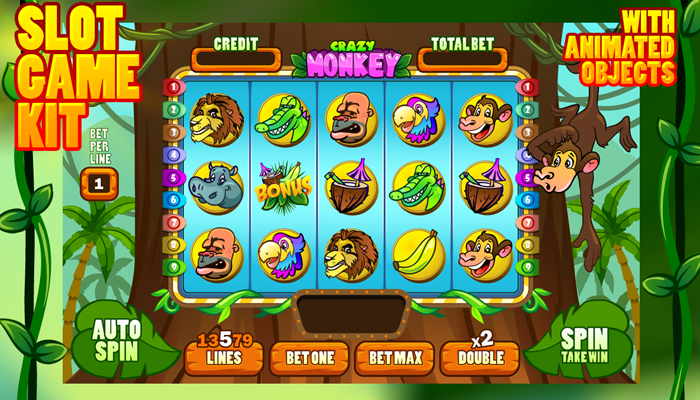 Crazy Monkey Slot Game Kit