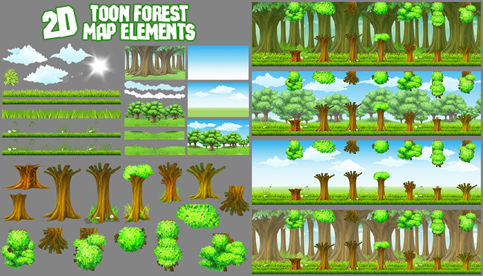 2D Toon Forest