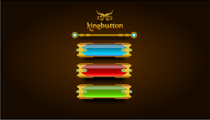 Gold King Button