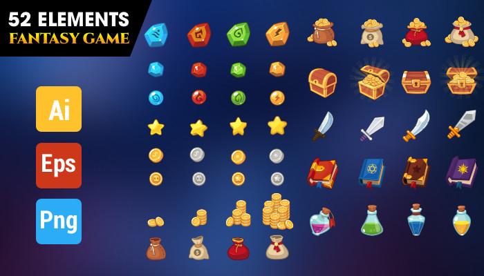52 elements fantasy game