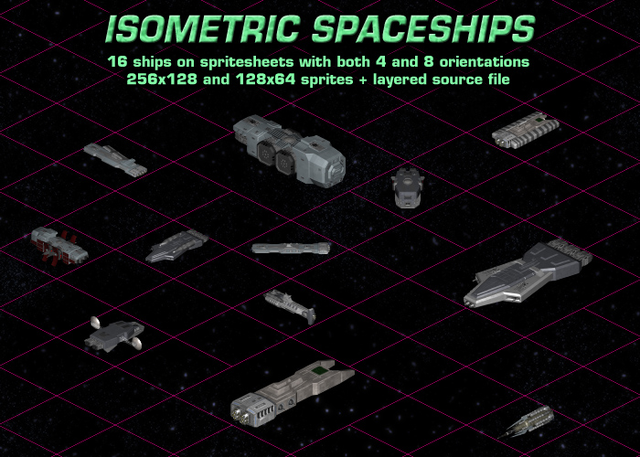 Isometric Spaceship Sprites