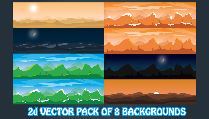 8 Backgrounds 2d vector