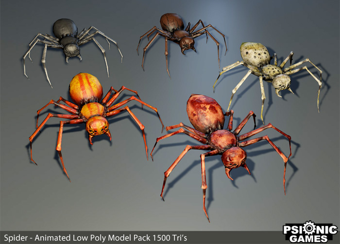 Spider Creature – Low Poly Animated