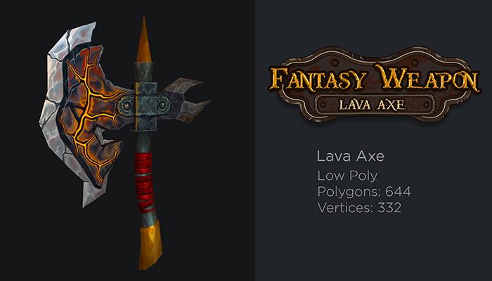 Fantasy Lava Axe
