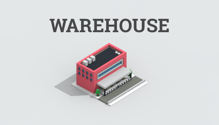 Low-poly warehouse
