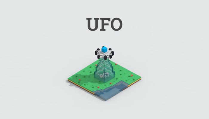 Low-poly UFO thief