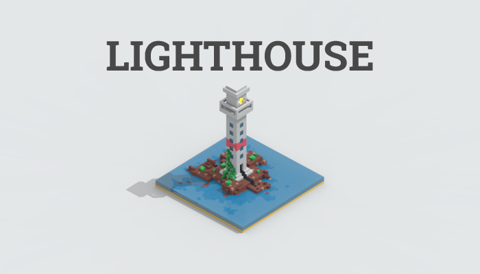 Low-poly lighthouse