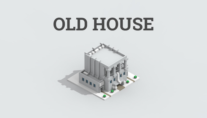 Low-poly old house