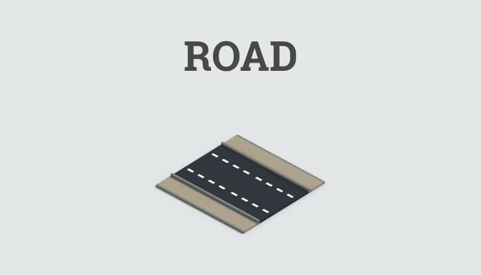 Low-poly road block