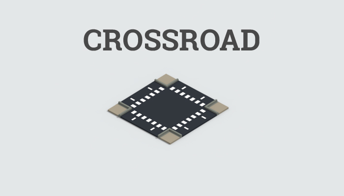 Low-poly crossroad