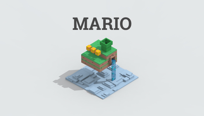 Low-poly mario level part