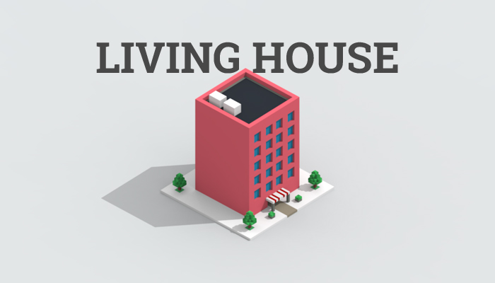 Low-poly living house