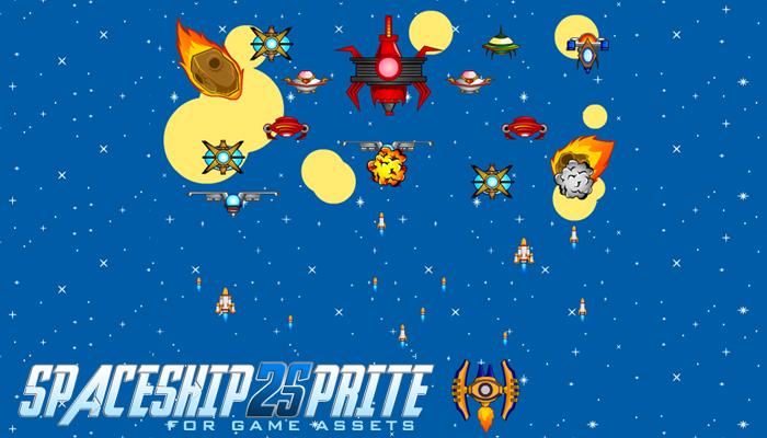 Spaceship 2 Sprites