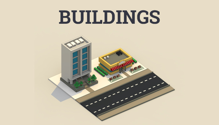 City buildings tiny assets